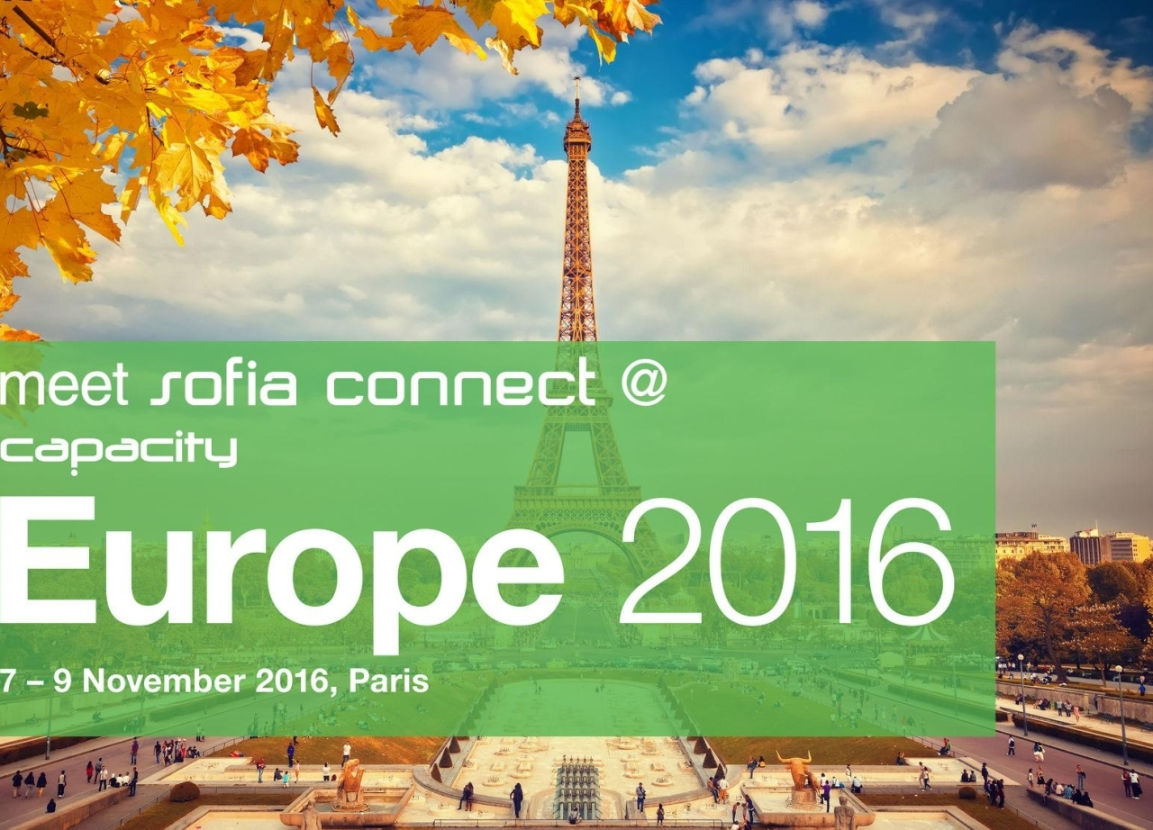 Meet Sofia Connect at Capacity Europe 2016