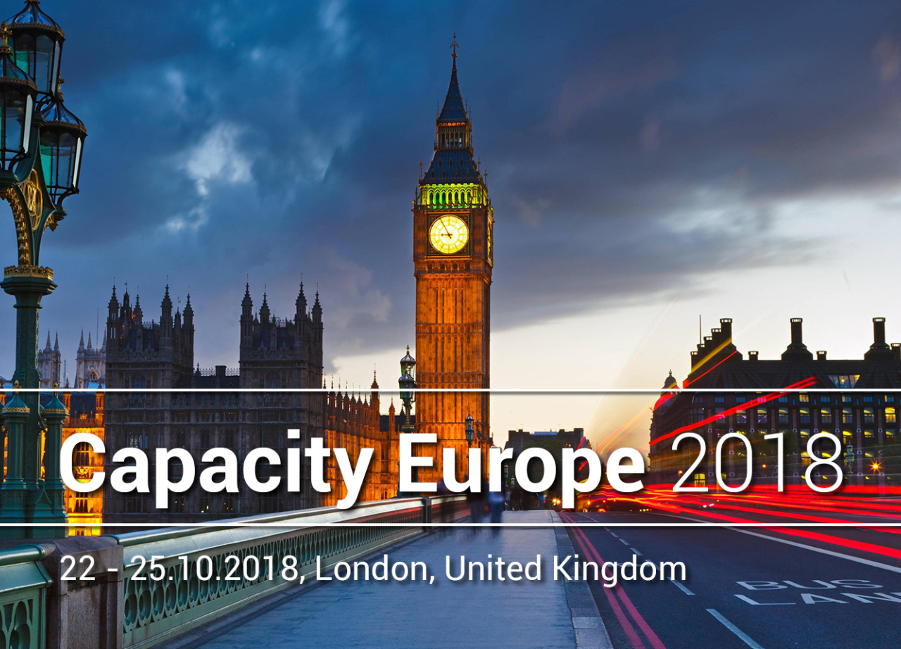 Sofia Connect team will be attending Capacity Europe 2018