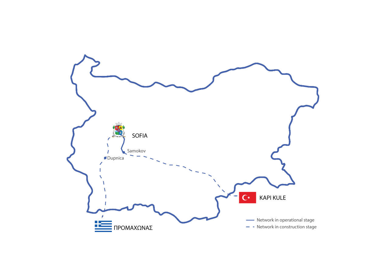 Sofia Connect is building a link connecting Greece and Turkey through out Bulgaria
